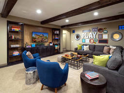 Design a recreation room for the whole family