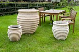 Garden pots and plants