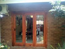 Meranti folding stackdoor. Roodeplaat Stacker Doors _small