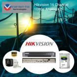 15% Off Hikvision 16 Channel 1080p Analog Kit Randburg CBD CCTV Security Cameras _small