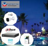 15% Off Dahua 4 Camera 24/7 Full Color 1080P Analog Kit Randburg CBD CCTV Security Cameras _small