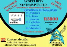 HIK VISION 4 CH TURBO HD KIT Central Westville Alarm Systems _small