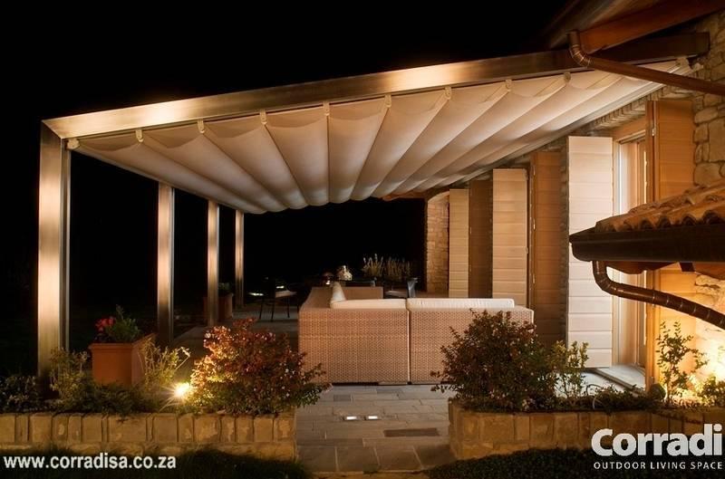 Pergotenda® Millenium. An aluminium pergola with automated, motorised retractable roof