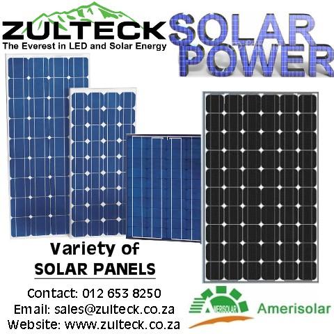 AMERISOLAR SOLAR PANELS / ECCO SOLAR PANELS (10W, 60W, 90W, 120W, 150W, 200W, 300W)