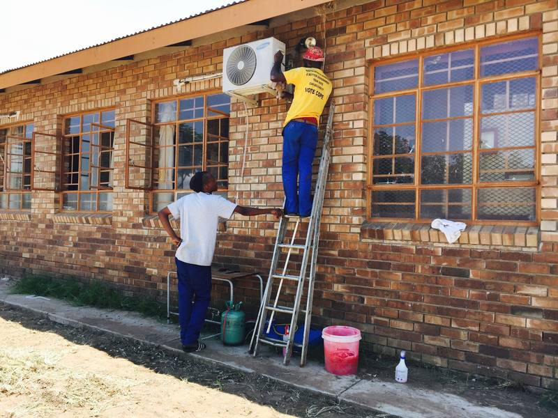 Major servicing in Pempelani Primary School