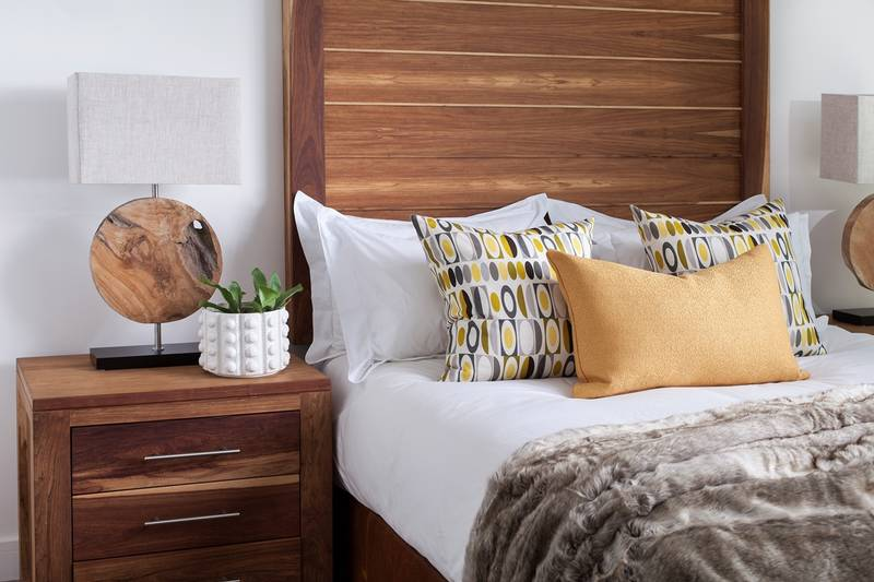 Solid kiaat wood bedroom suites