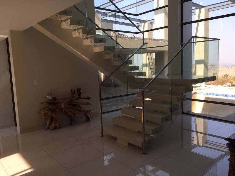 completed Mono rail floating stunning designer Concrete Staircase done by COOLSTAIR tel: 0861STAIRS