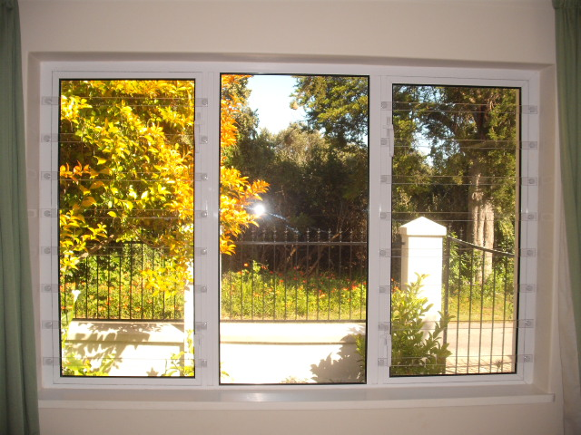 Lexan Clearbars on aluminium window.