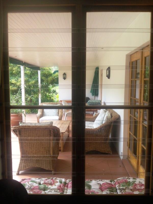 Lexan Clearbars on wooden window.