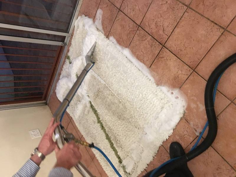 Loose carpets get a thorough wash
