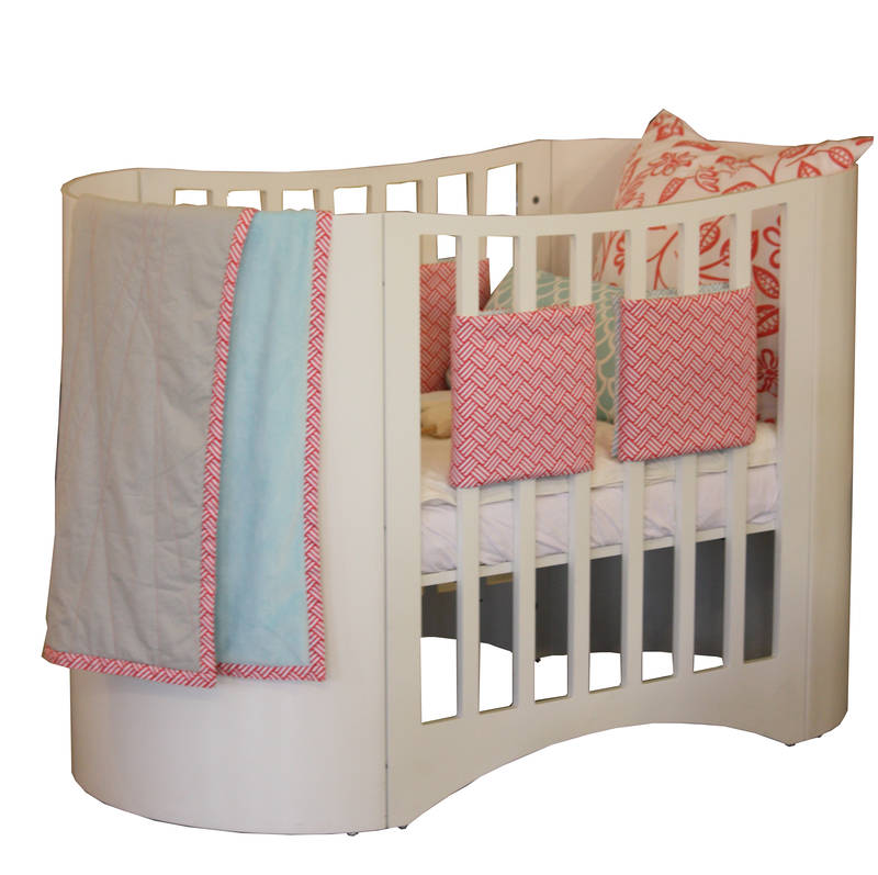 Beeno cot. Stunning curved sides, available in a range of colours