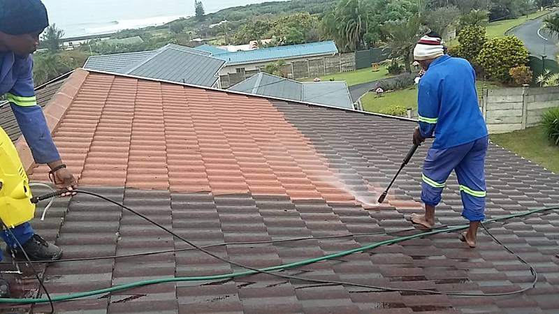 High Pressure Cleaning in action