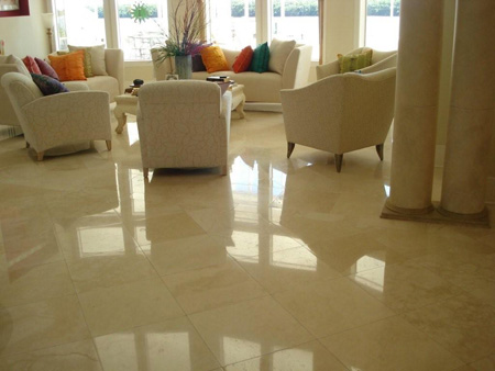 Polishing and sealing of marble surfaces