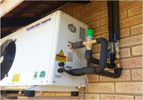 Geyser heat pumps installations