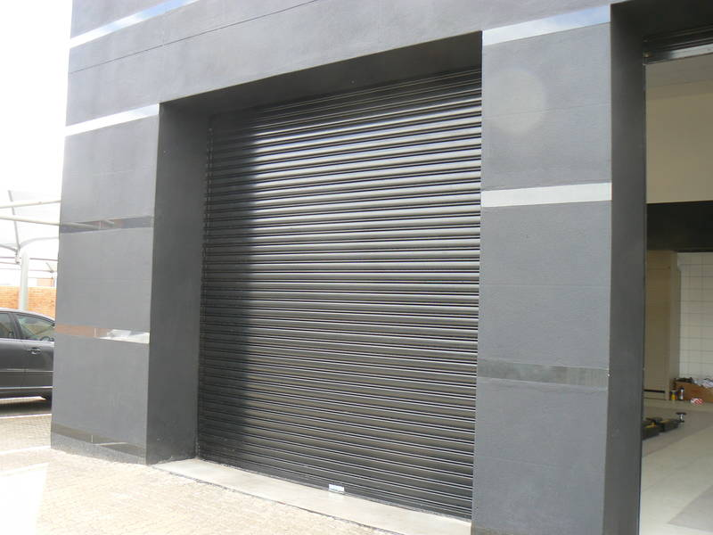 automated powder coated option - solid slats