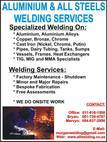 Aluminium & All Steels Welding Services Cc