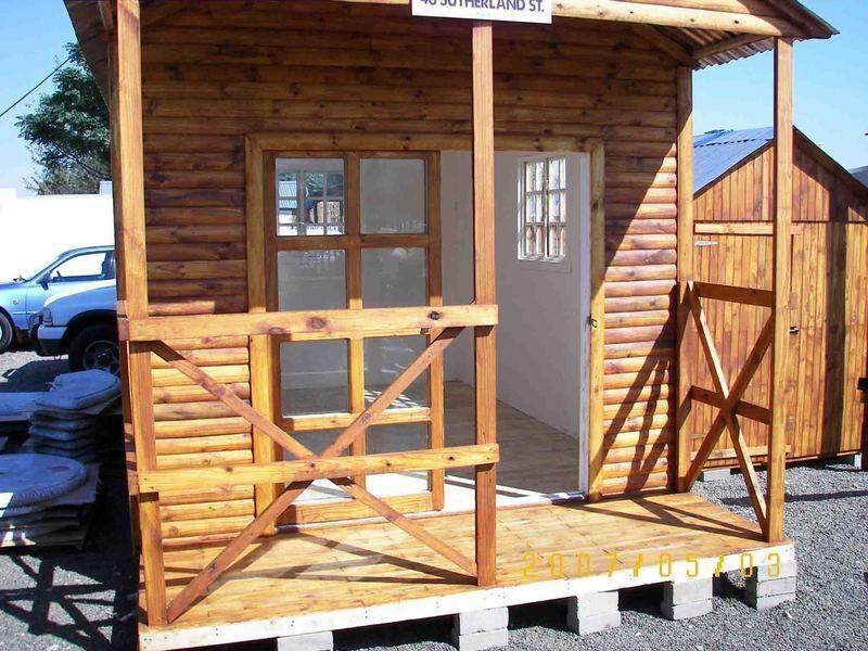 3.5m by 5m logcabin with verandah
