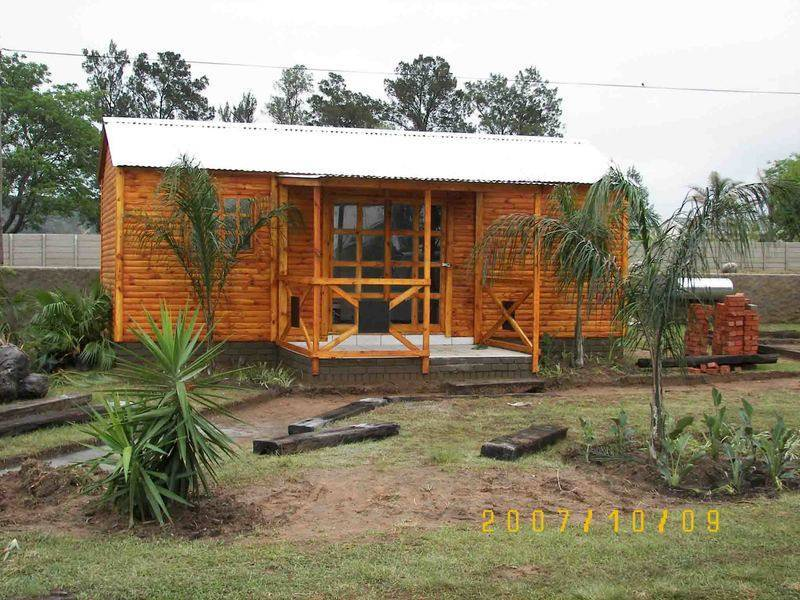 3.5m by 7.5m log cabin
