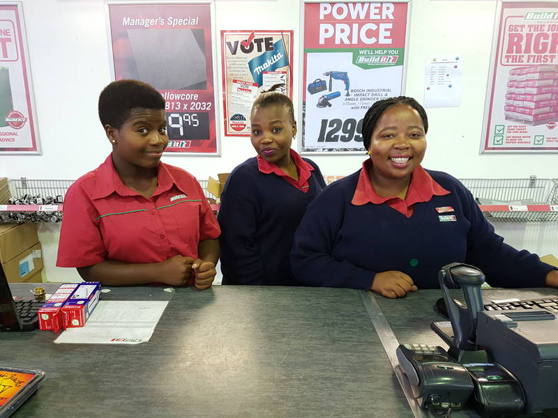 Unathi, Cebisa and Janet - a few of our friendly staff!