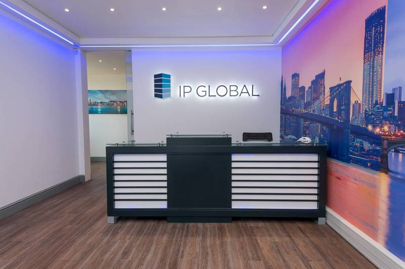 A high end reception area for one of our Century City clients