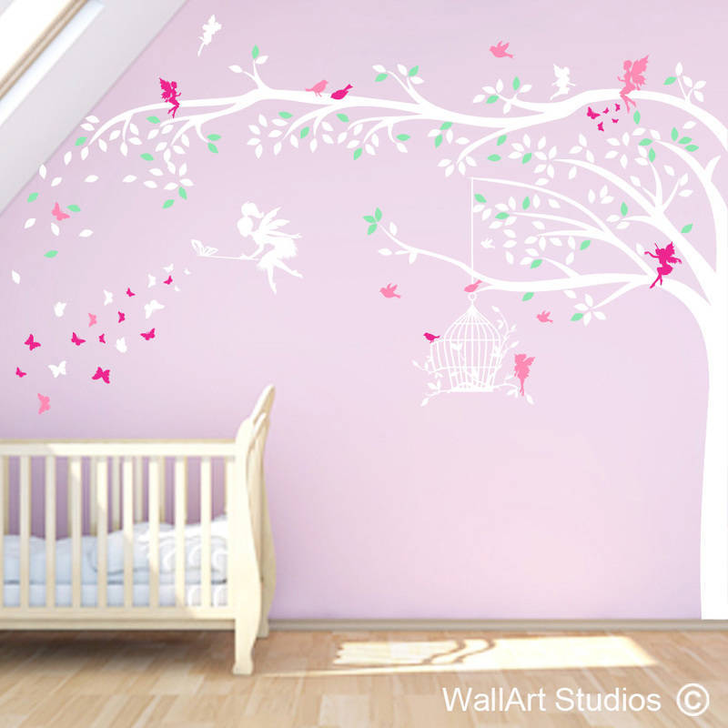 Girls Enchanted forest wall art sticker