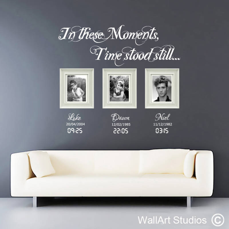Moments in time wall decals