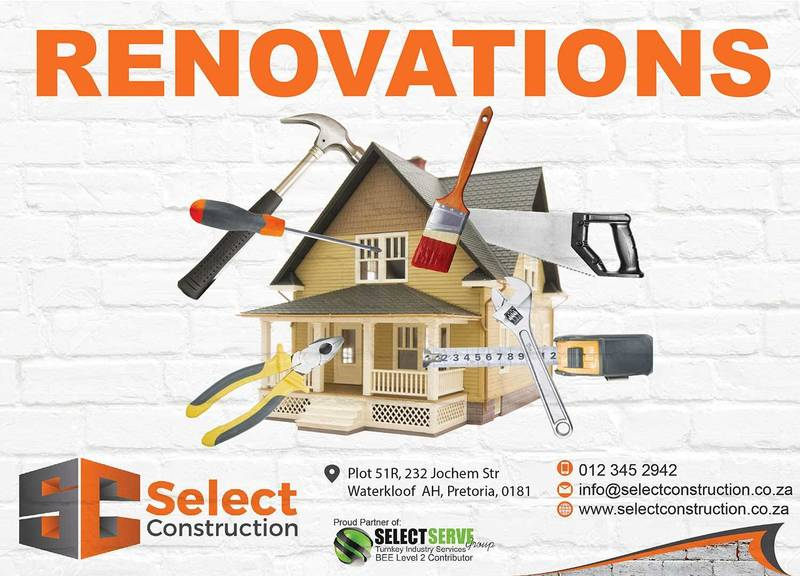 Renovations and maintenance services which include tiling, ceilings, painting, general repair works, plumbing and electricians etc