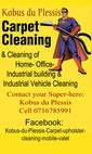 Kobus du Plessis - Carpet & upholster cleaning- mobile valet