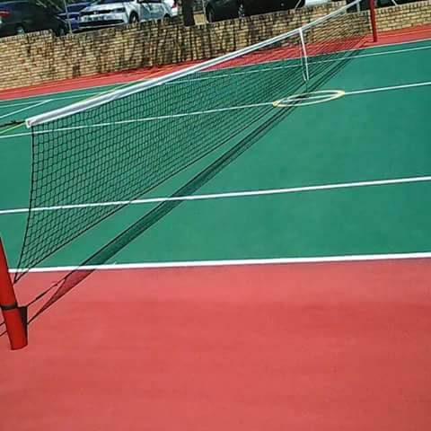 We also do tennis and basketball courts from scratch and resurfacing