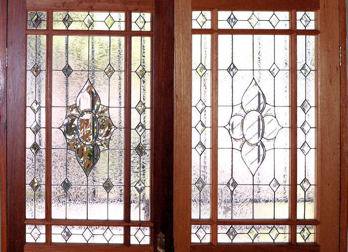 Door stained glass panels