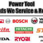 Power Tool Service & Repair