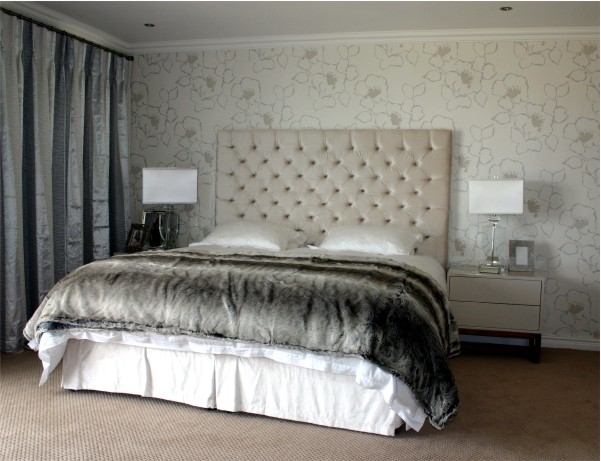 Genial Deep Buttoned Headboard And Strata Pedestals