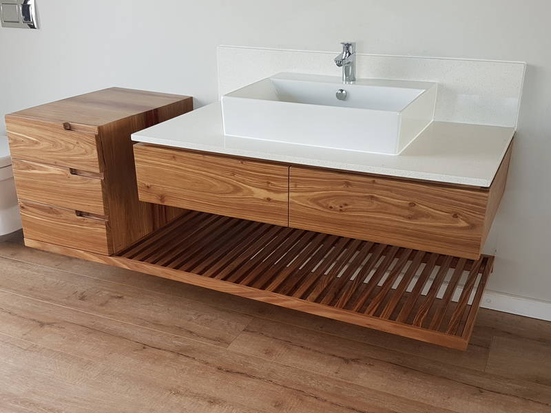 bathroom vanity with drawers and towel rack - Bathroom Cabinets Kzn