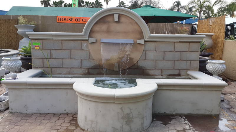 Custom made water feature to be built on site approx R40 000