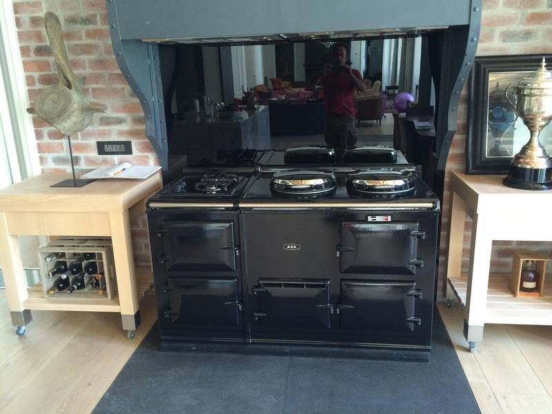New gas Arga stove instillation