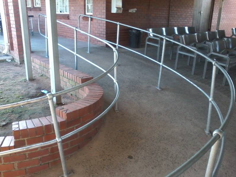 Design and installation of Hand Rails at Folweni clinic