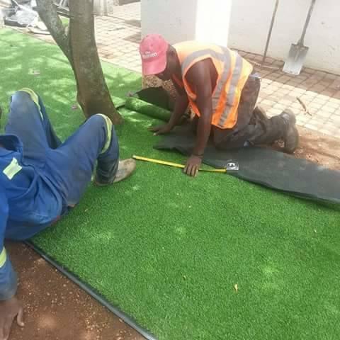 Construction Midrand CBD Artificial Grass 4