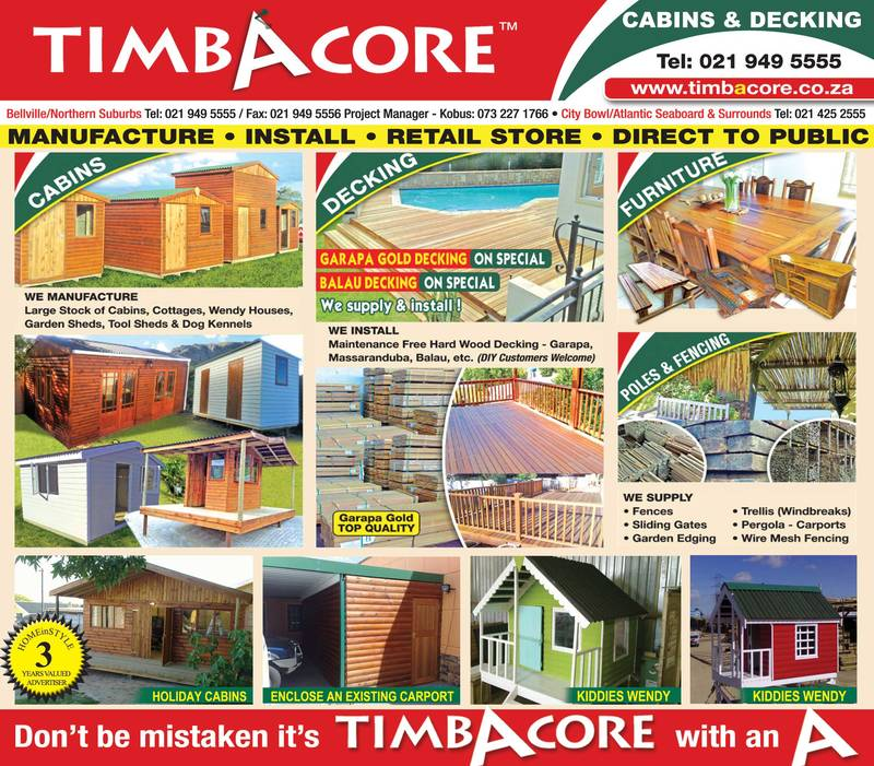 Timbacore Manufactruring and Installations of Decking, Fencing & Wendy houses