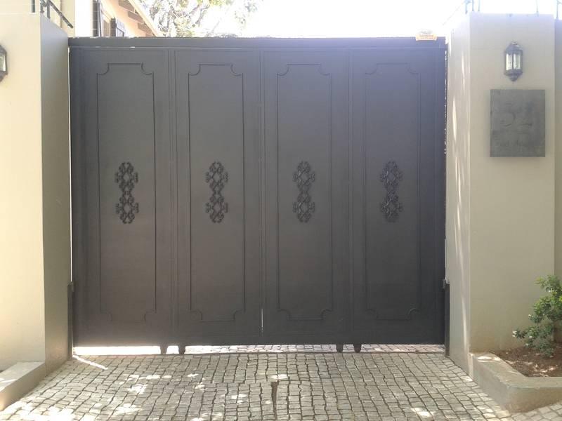 Non see through designer gate