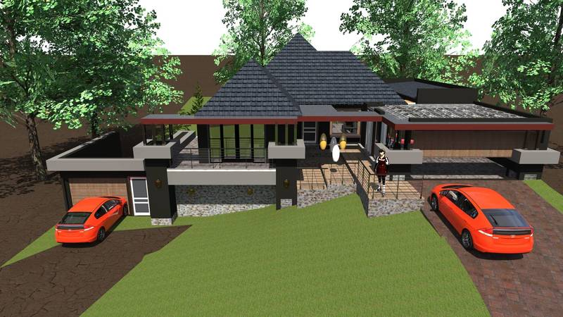 rendered house for client