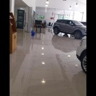 Motorcar showroom floor with 600x600 Nano Polished Porcelain floor tiles
