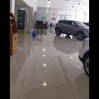 Motorcar showroom floor with 600x600 Nano Polished Porcelain floor tiles