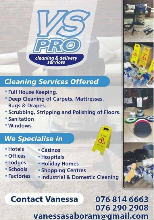 VS PRO CLEANING SERVICES  Vs Pro Cleaning Services is a company with a highly motivated team of qualified professionals that are equipped to ensure that we leave a lasting impression.  Our team of trustworthy, reliable, efficient and friendly experts will
