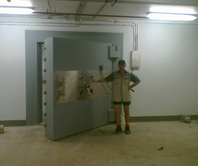 Installation of Vault Door