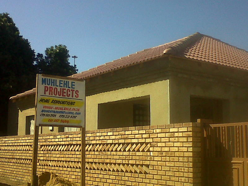 house extention in Orlando East soweto, completed