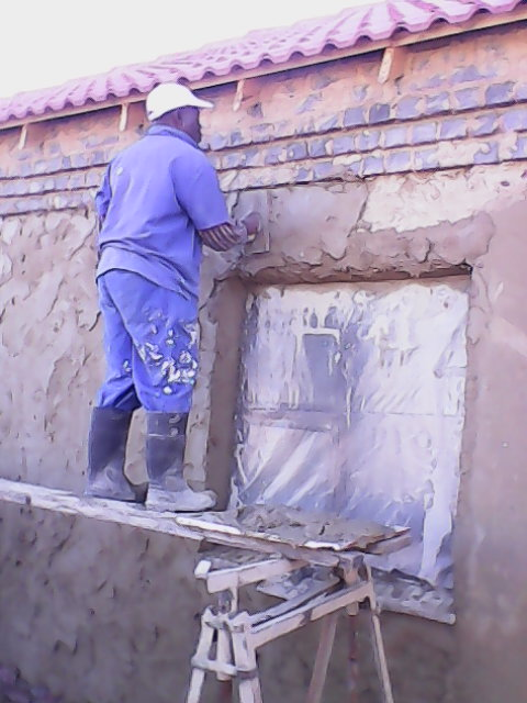 Plastering and painting a house in Orlando East soweto, completed