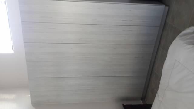Glacier Melamine cupboards no handles push open system