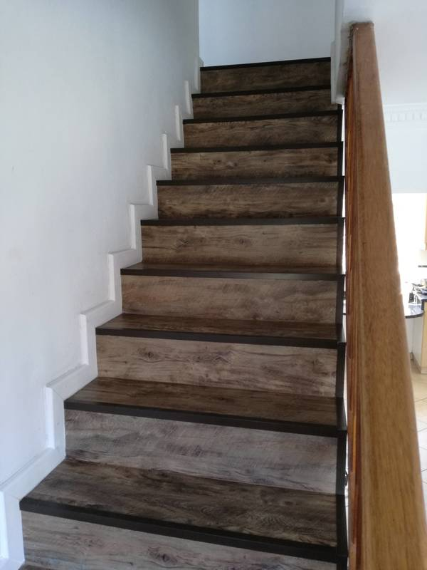 8 mm Vaal Laminate Flooring on stairs