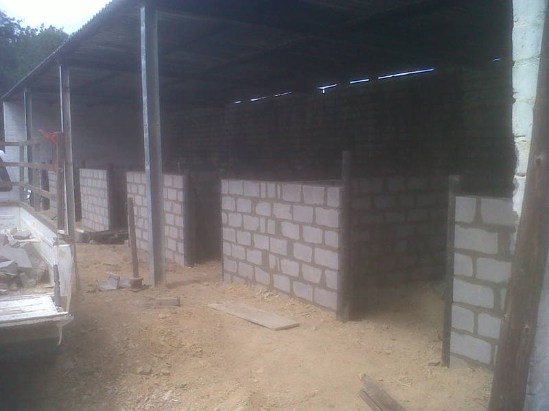 building walls in Tulbagh