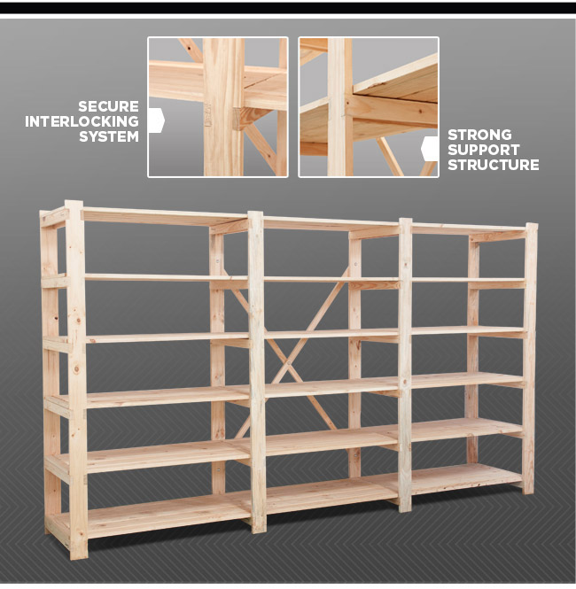 Timber Shelving